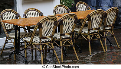 A street cafe on a sunny day