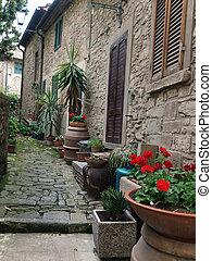 A street in Cortona, the Tuscan town of Etruscan origin