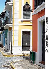 Old San Juan - A street in Old San Juan, Puerto Rico