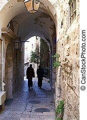 A street in the old city jerusalem