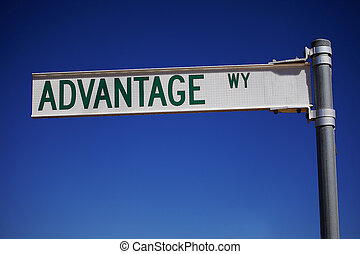 Advantage - A street sign showing the Advantage Way