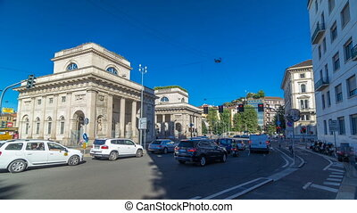 A street view of beautiful historic landmark - Porta Venezia...