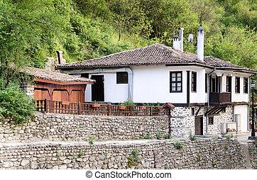 A street view of Melnik in Bulgaria