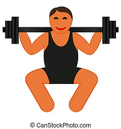 A strong man lifting weights
