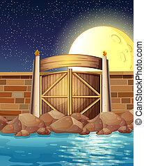 A strong sea wall