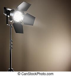 A studio flash.