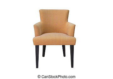 A studio shot of armchair isolated on white background