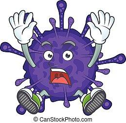 A stunning coronavirinae cartoon character with happy face