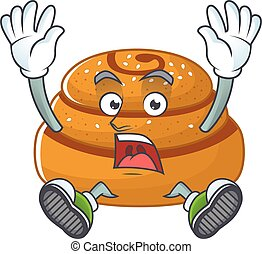 A stunning kanelbulle cartoon character with happy face