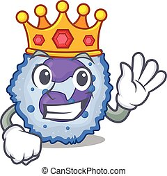 A stunning of basophil cell stylized of King on cartoon ...