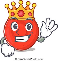 A stunning of erythrocyte cell stylized of King on cartoon ...