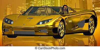 A Golden City Ride