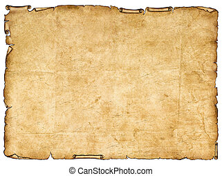 a, stycke, av, forntida, papper, med, grov, edges.