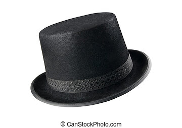 A stylish black hat - isolated with clipping path