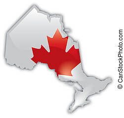 A stylized and detailed map of Ontario