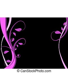 A stylized magenta floral vector background design on a...