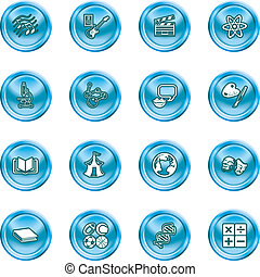 subject category icon set - A subject category icon set eg....