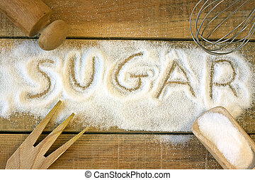 a sugar word with background