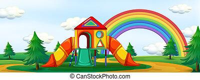 A summer playground background
