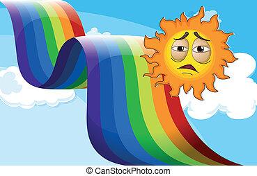 A sun near the rainbow