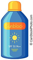 A Sunblock on White Background