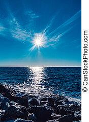 A sunny day on the ocean