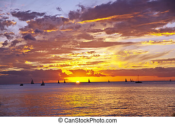 A sunset on Hawaii