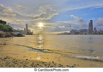 a Sunset view at a famous tourist attraction - Sunset view...