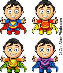 A Super Man Character - Thumbs Up