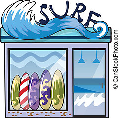 A surf accessories store