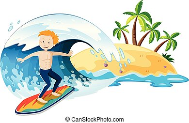 A Surfer and Summer Holiday