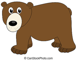 a surprised bear