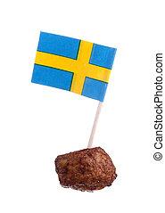 Swedish meatball - A Swedish meatball with a Swedish flag ...