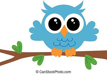 a sweet little blue owl