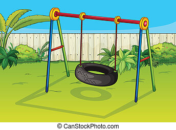 A swinging tyre