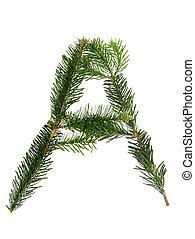 A - symbol from christmas alphabet