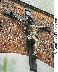 A symbol of religion. Jesus was crucified on the cross