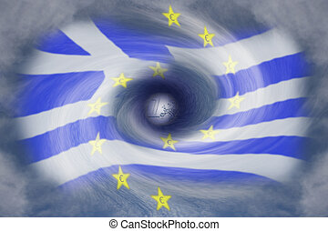 Greek debt crisis - a symbolic image from the Greek debt...