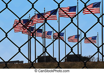 a symbolic representation of the united states and immigrants