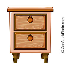 A table with drawer - illustration of a table with drawer on...