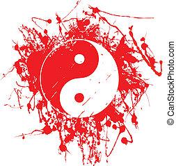 Tai Chi - A Tai Chi symbol in splashed gunge ink.