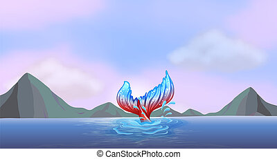 A tail of a mermaid