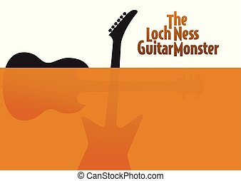 A take off on the Loch Ness Monster guitar poster in 2...