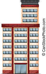 A tall commercial building - Illustration of a tall...