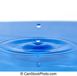 a, tappa av bevattnar, _ falla in, blå tåra
