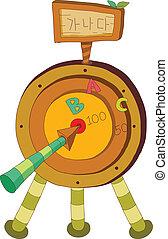 A target with arrow