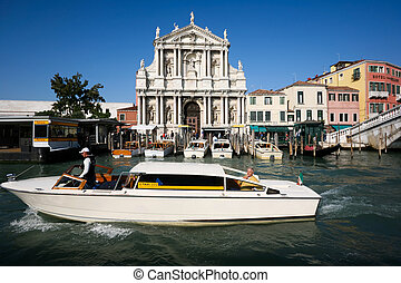 a taxi boat