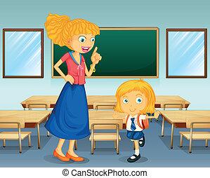 A teacher and a student