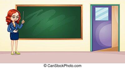 A teacher in the classroom