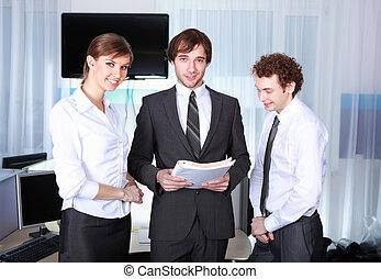 a team of businessmen